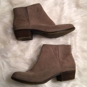 Lucky brand suede booties